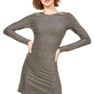 Reformation Dress Apollo Radford Silver Mini S/P